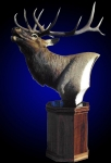 Elk Pedestal Mount, Bugling on Walnut Ocatagon